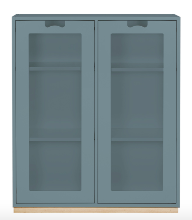 Product Image Snow E (Glass Doors) cabinet