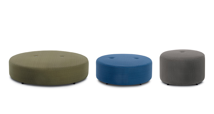 Product Image Double Pouf Round