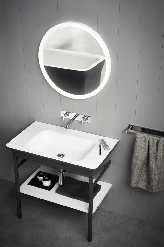 Product Image novecento XL wall-mounted washbasin with stand