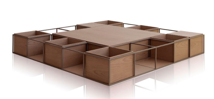 Product Image Square Iso Coffee Table