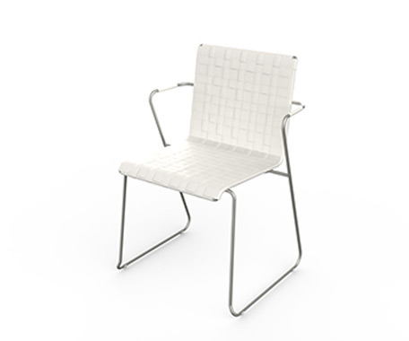 SLIM BELT DINING Chair w. Arms    ·