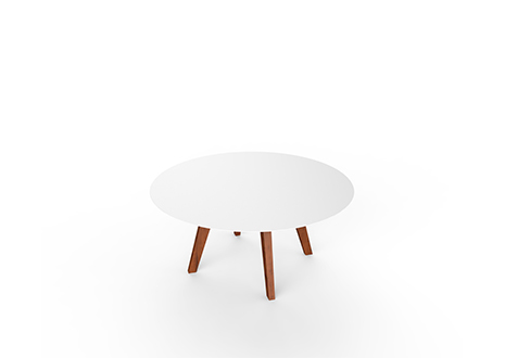 Slim Wood Lounge Round    ·