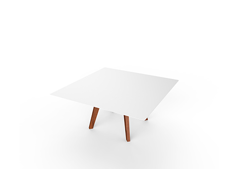 Product Image Slim Wood Lounge Square Side Table